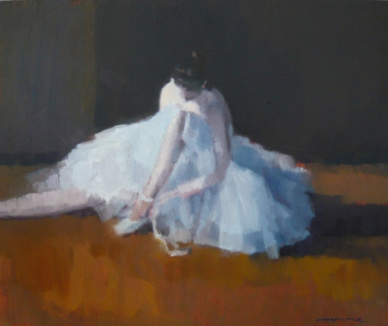 "<h4 style=""margin:0px 0px 5px 0px;"">Rehearsing 1</h4>Medium: Oil on cedar. Framed<br />Price: Sold <span style=""color:#aaa"">