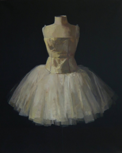 "<h4 style=""margin:0px 0px 5px 0px;"">Romantic Bell Tutu</h4>Medium: Oil on linen<br />Price: $10,000 <span style=""color:#aaa"">