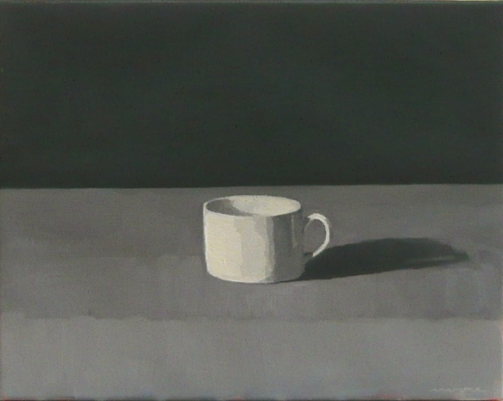 "<h4 style=""margin:0px 0px 5px 0px;"">White Tea Cup</h4>Medium: Oil on linen framed<br />Price: Sold <span style=""color:#aaa"">
