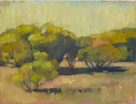 "<h4 style=""margin:0px 0px 5px 0px"">Acacias Flinders Ranges by David Moore</h4>Medium: Oil on cedar framed<br />Price: $1,500 