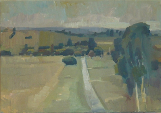 "<h4 style=""margin:0px 0px 5px 0px"">Along the Yarra Glen Road by David Moore</h4>Medium: Oil on linen framed<br />Price: $3,500 