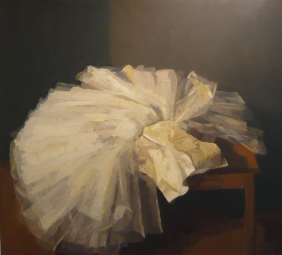 "<h4 style=""margin:0px 0px 5px 0px"">Amys Tutu by David Moore</h4>Medium: Oil on linen<br />Price: Sold<span class=""helptip"" style=""color:#ff0000;"" title=""This artwork been sold""><img src=""/images/reddot1.gif"" border=""0"" height=""10"" /></span> 