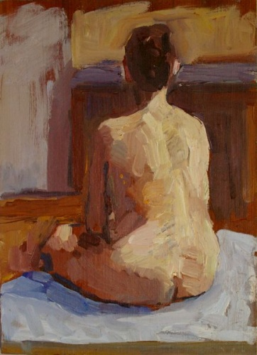 "<h4 style=""margin:0px 0px 5px 0px"">Back Study - Rachael by David Moore</h4>Medium: Oil on board<br />Price: $1,300 