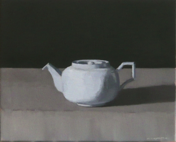 "<h4 style=""margin:0px 0px 5px 0px"">Blue teapot by David Moore</h4>Medium: Oil on linen framed<br />Price: $2,200 