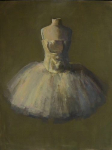 "<h4 style=""margin:0px 0px 5px 0px"">Dancers Fitting by David Moore</h4>Medium: Oil on linen framed<br />Price: Sold<span class=""helptip"" style=""color:#ff0000;"" title=""This artwork been sold""><img src=""/images/reddot1.gif"" border=""0"" height=""10"" /></span> 