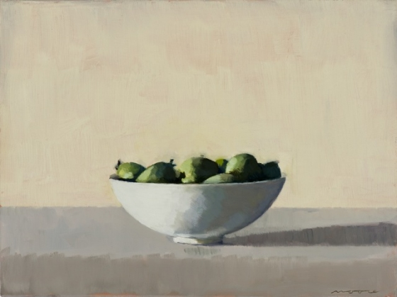 "<h4 style=""margin:0px 0px 5px 0px"">Feijoas by David Moore</h4>Medium: Oil on linen Framed<br />Price: $2,400 