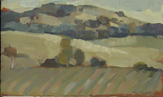 "<h4 style=""margin:0px 0px 5px 0px"">Heathcote Landscape by David Moore</h4>Medium: Oil on cedar<br />Price: $950 