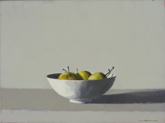 "<h4 style=""margin:0px 0px 5px 0px"">Nashi Pears I by David Moore</h4>Medium: Oil on linen Framed<br />Price: $2,400 