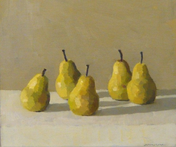 "<h4 style=""margin:0px 0px 5px 0px"">Pears 2 by David Moore</h4>Medium: Oil on linen<br />Price: $1,800 