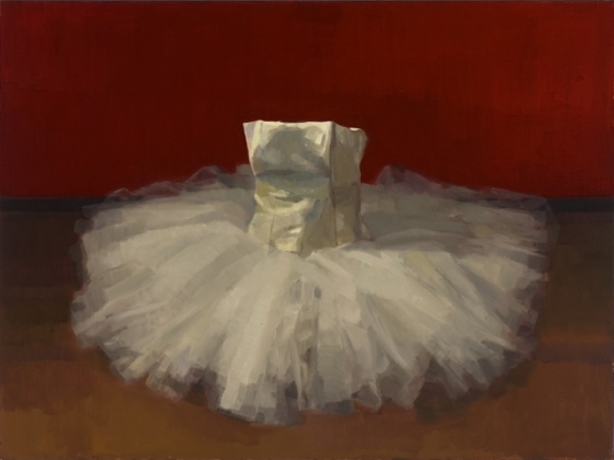 "<h4 style=""margin:0px 0px 5px 0px"">Red curtain and tutu by David Moore</h4>Medium: Oil on linen framed<br />Price: Sold<span class=""helptip"" style=""color:#ff0000;"" title=""This artwork been sold""><img src=""/images/reddot1.gif"" border=""0"" height=""10"" /></span> 