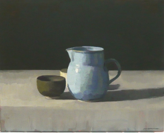 "<h4 style=""margin:0px 0px 5px 0px"">Still Life with Blue Jug by David Moore</h4>Medium: OIl on linen framed<br />Price: Sold<span class=""helptip"" style=""color:#ff0000;"" title=""This artwork been sold""><img src=""/images/reddot1.gif"" border=""0"" height=""10"" /></span> 