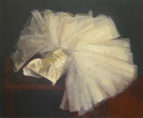 "<h4 style=""margin:0px 0px 5px 0px"">White Tutu on a low table by David Moore</h4>Medium: Oil on linen framed<br />Price: Sold<span class=""helptip"" style=""color:#ff0000;"" title=""This artwork been sold""><img src=""/images/reddot1.gif"" border=""0"" height=""10"" /></span> 