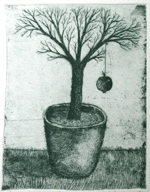 "<h4 style=""margin:0px 0px 5px 0px"">The gardeners little orchard by Jiri Tibor Novak</h4>Medium: Etching<br />Price: $260 