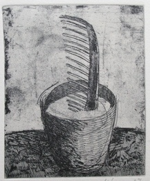 "<h4 style=""margin:0px 0px 5px 0px"">The gardeners pride by Jiri Tibor Novak</h4>Medium: Etching - Chine Colle<br />Price: $260 