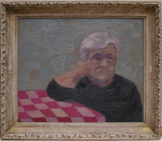 "<h4 style=""margin:0px 0px 5px 0px;"">Aunt Theodora</h4>Medium: Oil on canvas<br />Price: Sold <span style=""color:#aaa"">