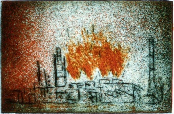 "<h4 style=""margin:0px 0px 5px 0px"">Fireworks</h4>Medium: Etching<br />Price: $360 