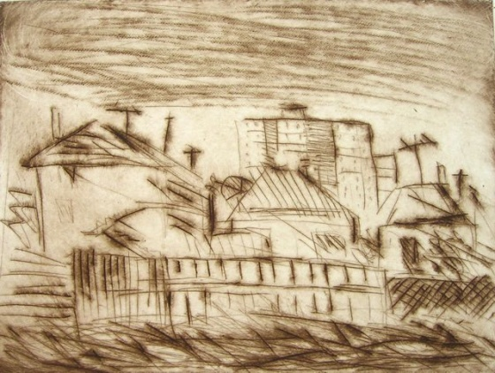 "<h4 style=""margin:0px 0px 5px 0px;"">Good Old Collingwood</h4>Medium: Drypoint<br />Price: $250 <span style=""color:#aaa"">