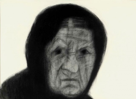 "Old Woman, Metsovo<br /><br />Medium: Charcoal on paper<br />Price: $1,800<br /><a href=""Artwork-Pavlidis-OldWomanMetsovo-2249.htm"">View full artwork details</a>"