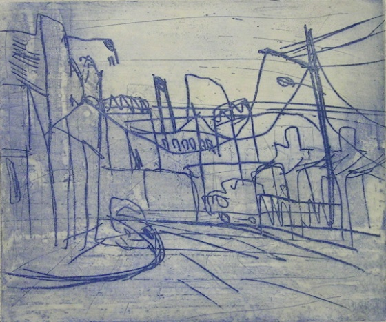 "<h4 style=""margin:0px 0px 5px 0px"">Towards Swan Street</h4>Medium: Etching<br />Price: $400 