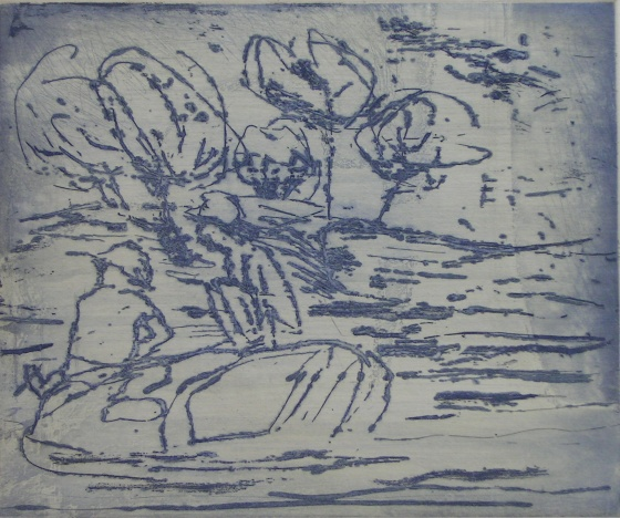 "<h4 style=""margin:0px 0px 5px 0px"">On the rocks by Jim Pavlidis</h4>Medium: Etching<br />Price: $400 