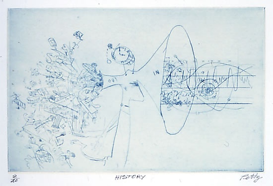 "<h4 style=""margin:0px 0px 5px 0px;"">History</h4>Medium: Drypoint/Chine colle<br />Price: $400 <span style=""color:#aaa"">