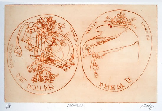 "<h4 style=""margin:0px 0px 5px 0px"">Money</h4>Medium: Drypoint<br />Price: $400 