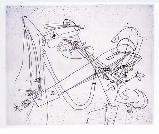 "The Violinist<br /><br />Medium: Etching<br />Price: $380<br /><a href=""Artwork-Petty-TheViolinist-424.htm"">View full artwork details</a>"
