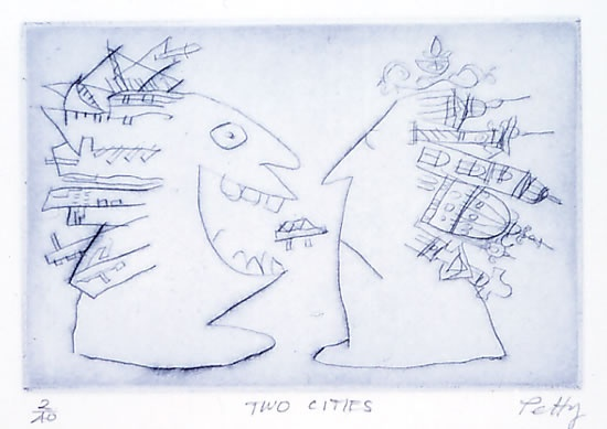 "<h4 style=""margin:0px 0px 5px 0px"">Two cities</h4>Medium: Drypoint<br />Price: $150 