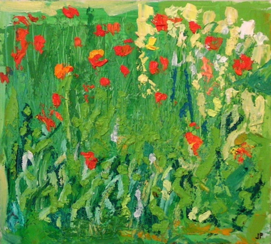 "<h4 style=""margin:0px 0px 5px 0px"">Poppies amongst the Rocket</h4>Medium: Oil on Board<br />Price: Sold 