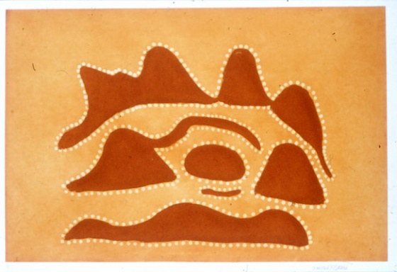 "<h4 style=""margin:0px 0px 5px 0px"">Kangaroo Tail Dreaming</h4>Medium: Etching<br />Price: $550 