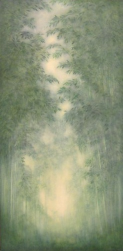 "<h4 style=""margin:0px 0px 5px 0px"">Ingrida Rocis - Bamboo Mist</h4>Medium: Oil on canvas<br />Price: $3,000 
