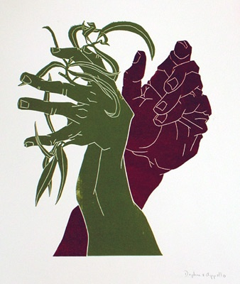 "<h4 style=""margin:0px 0px 5px 0px;"">Daphne and Apollo</h4>Medium: Linocut<br />Price: $450 <span style=""color:#aaa"">