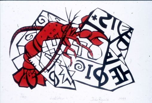 "<h4 style=""margin:0px 0px 5px 0px;"">Lobster</h4>Medium: Woodcut<br />Price: $400 <span style=""color:#aaa"">