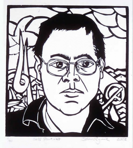 "<h4 style=""margin:0px 0px 5px 0px;"">Self Portrait</h4>Medium: Woodcut<br />Price: $400 <span style=""color:#aaa"">