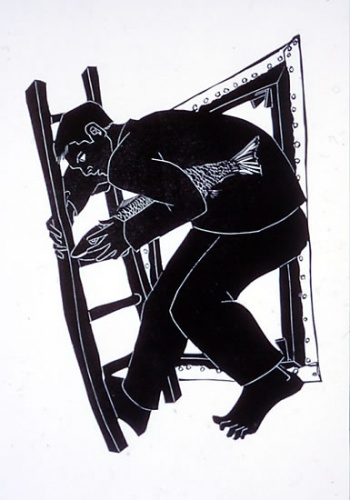 "Studio<br /><br />Medium: Linocut<br />Price: $400<br /><a href=""Artwork-Ryrie-Studio-608.htm"">View full artwork details</a>"