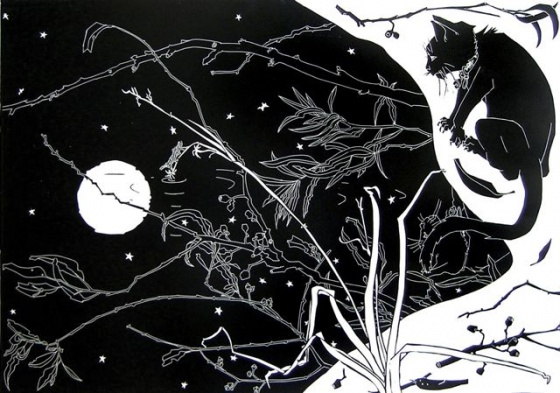 "<h4 style=""margin:0px 0px 5px 0px;"">The Moons Reflection II</h4>Medium: Linocut<br />Price: $1,150 <span style=""color:#aaa"">