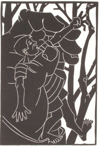 "<h4 style=""margin:0px 0px 5px 0px;"">The Selfish Giant #5</h4>Medium: Linocut<br />Price: $330 <span style=""color:#aaa"">