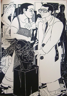 "<h4 style=""margin:0px 0px 5px 0px"">Mercury and the Sculptor by John Ryrie</h4>Medium: Linocut<br />Price: $1,150 