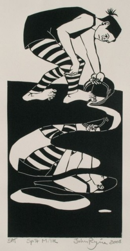 "<h4 style=""margin:0px 0px 5px 0px"">Spilt Milk by John Ryrie</h4>Medium: Linocut<br />Price: $450 