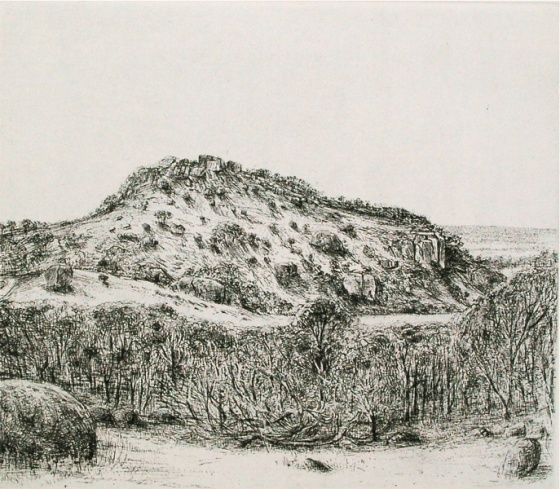 "Afternoon You Yangs<br /><br />Medium: Etching<br />Price: $550<br /><a href=""Artwork-Scurry-AfternoonYouYangs-2139.htm"">View full artwork details</a>"