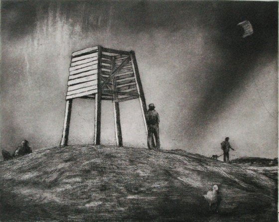 "Beacon<br /><br />Medium: Etching<br />Price: $450<br /><a href=""Artwork-Scurry-Beacon-2141.htm"">View full artwork details</a>"