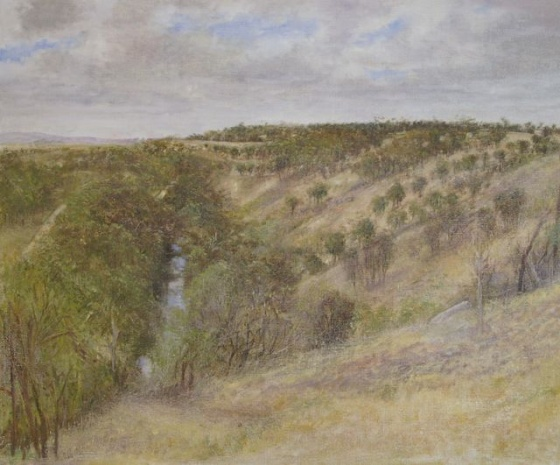"Brimbank<br /><br />Medium: Oil on linen<br />Price: $3,000<br /><a href=""Artwork-Scurry-Brimbank-2556.htm"">View full artwork details</a>"