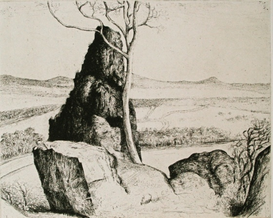 "<h4 style=""margin:0px 0px 5px 0px"">From Hanging Rock</h4>Medium: Etching &amp; drypoint<br />Price: $500 