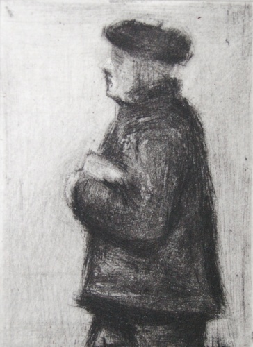 "Passing figure<br /><br />Medium: Drypoint<br />Price: $300<br /><a href=""Artwork-Scurry-Passingfigure-2159.htm"">View full artwork details</a>"
