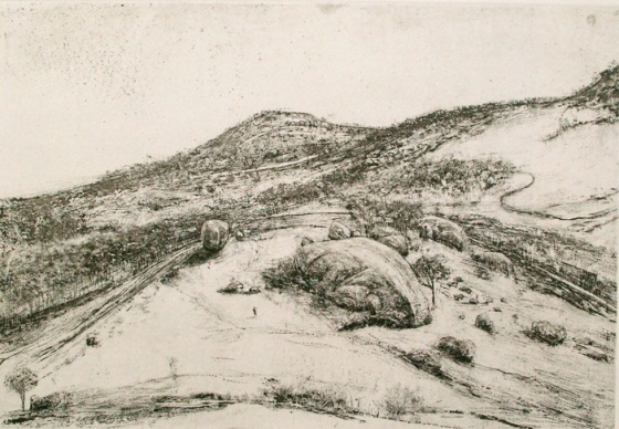 "<h4 style=""margin:0px 0px 5px 0px;"">You Yangs IV</h4>Medium: Etching<br />Price: $700 <span style=""color:#aaa"">