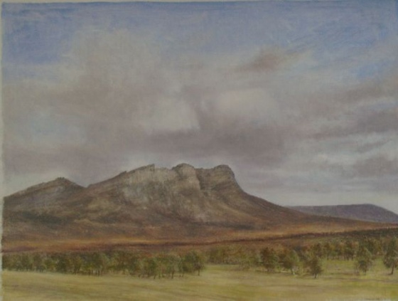 "<h4 style=""margin:0px 0px 5px 0px"">Halls Gap by John Scurry</h4>Medium: Oil on linen<br />Price: $4,000 