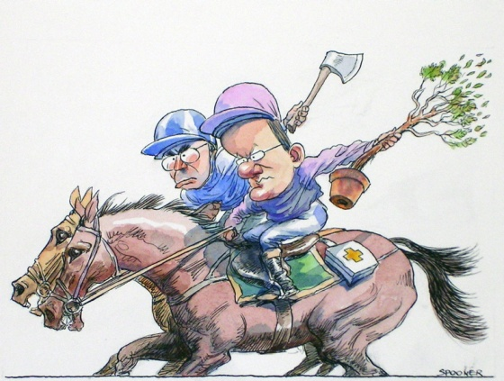 "<h4 style=""margin:0px 0px 5px 0px;"">Election eve race</h4>Medium: Pen &amp; ink &amp; watercolour<br />Price: Sold <span style=""color:#aaa"">