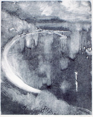 "<h4 style=""margin:0px 0px 5px 0px"">Half Moon Bay II</h4>Medium: Monoprint<br />Price: Sold 