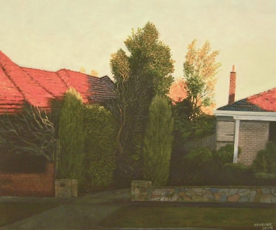 "<h4 style=""margin:0px 0px 5px 0px"">John Spooner - Kennedy St. No. 1</h4>Medium: Acrylic on canvas<br />Price: $2,500 