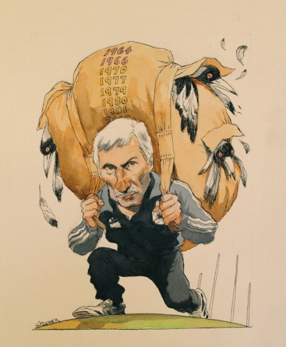 "<h4 style=""margin:0px 0px 5px 0px"">Mick Malthouse</h4>Medium: Ink &amp; watercolour<br />Price: Sold 